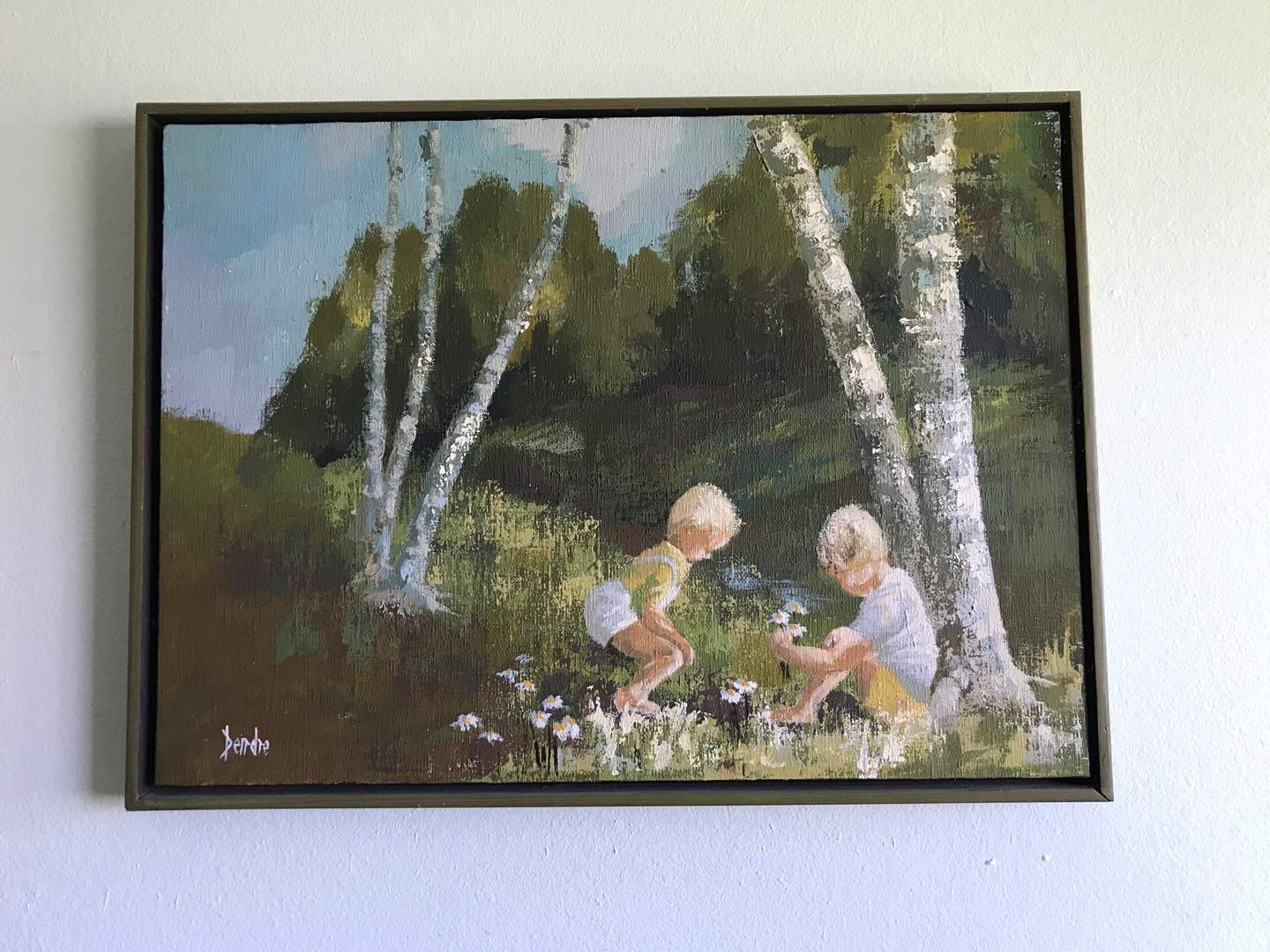 Lot # 106 - Oil on Canvas Signed by Dendre (main image)