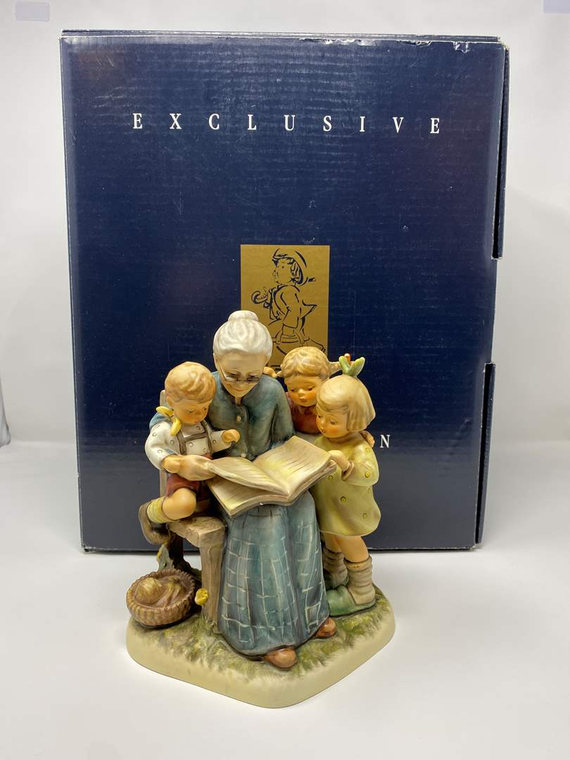 """Lot # 18 - Large Goebel Hummel Collectable Exclusive Edition #620""""A Story From Grandma"""" Numbered 6,777 of 10,000 w/Original Box (main image)"""