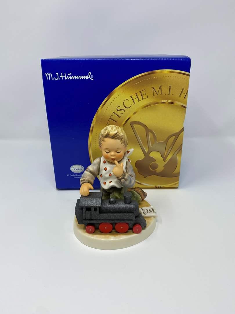 "Lot # 32 - Hummel w/Original Box #2157 ""Full Speed Ahead"" (main image)"