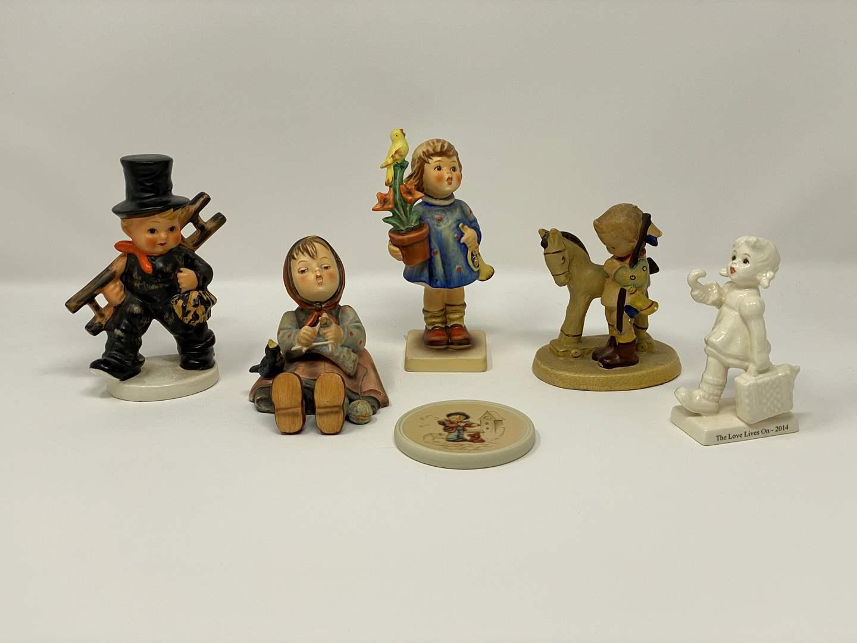 Lot # 45 - Six Vintage Hummel Figurines - See Description for Titles & Details  (main image)