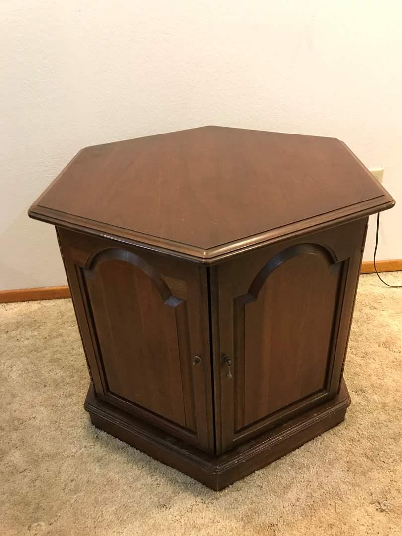 Lot # 184 - Vintage Side Table/Cabinet (main image)