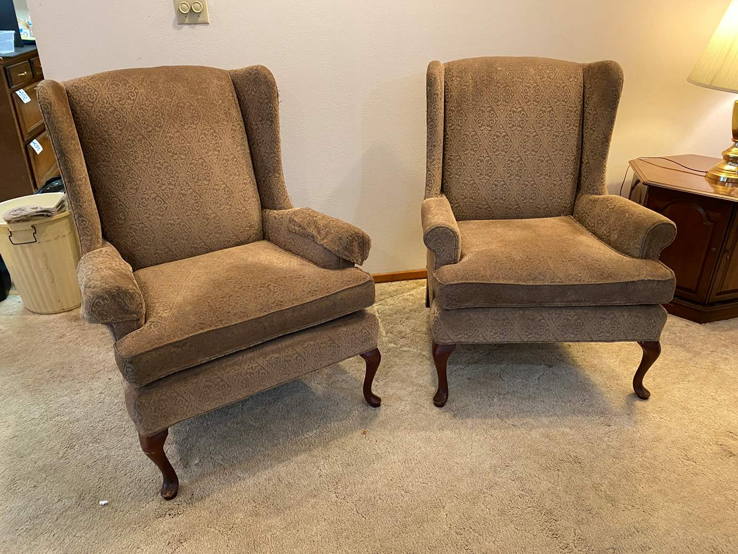 "Lot # 195 - 2 Vintage ""Thomasville"" Arm Chairs (main image)"