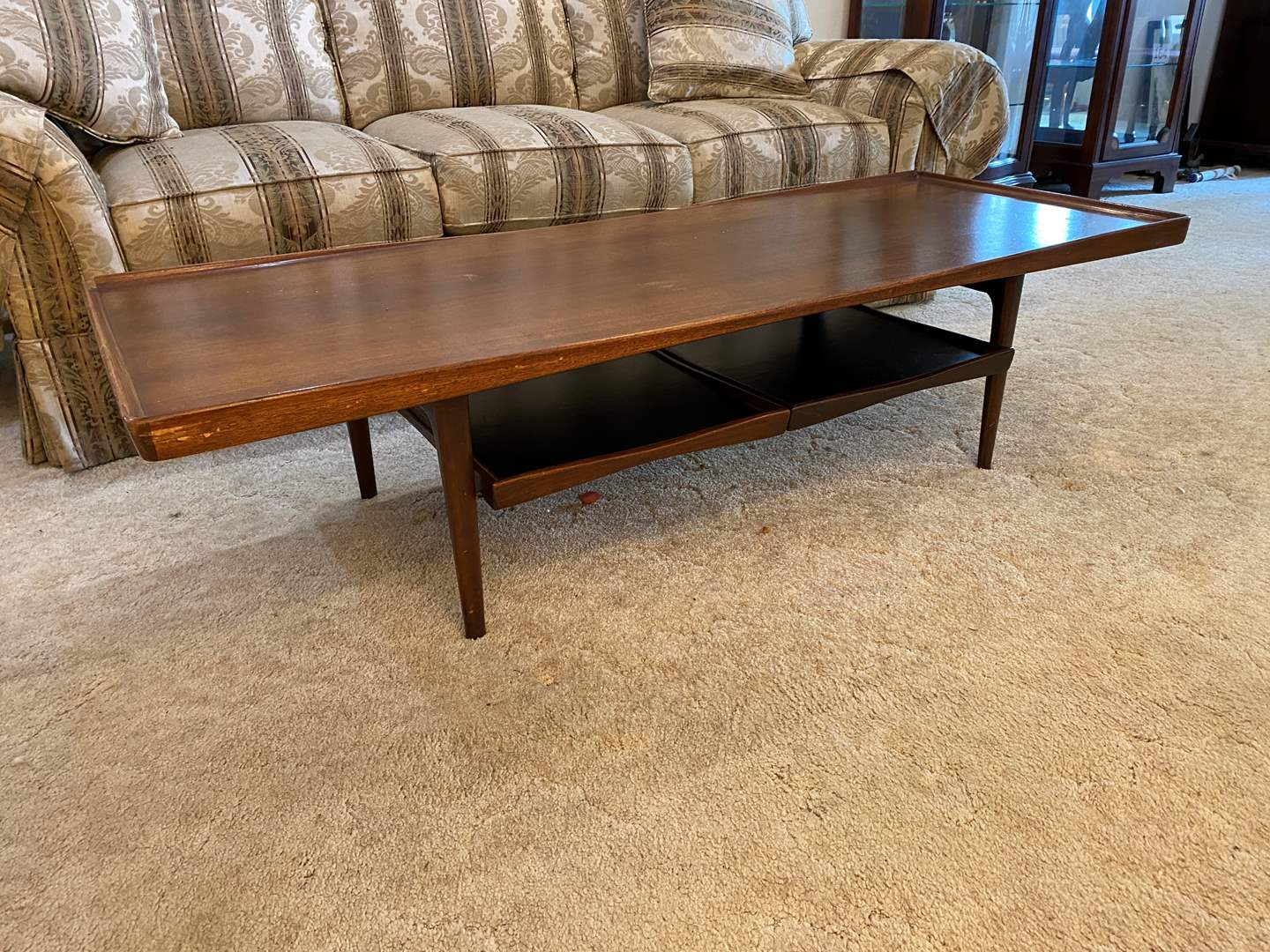 Lot # 196 - Vintage Mid-Century Danish Teak Coffee Table w/Removable Trays (main image)