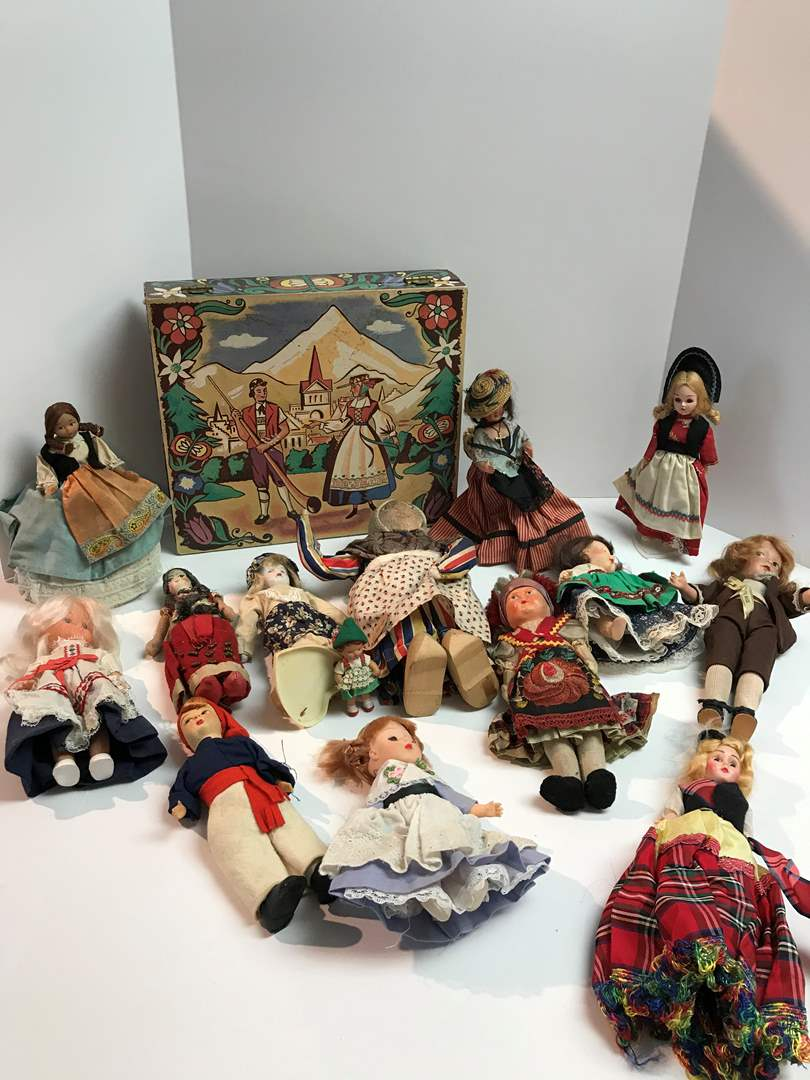 Lot # 203 - Vintage Dolls From Around the World Made w/Bisque, Porcelain, Cloth & More.. (main image)