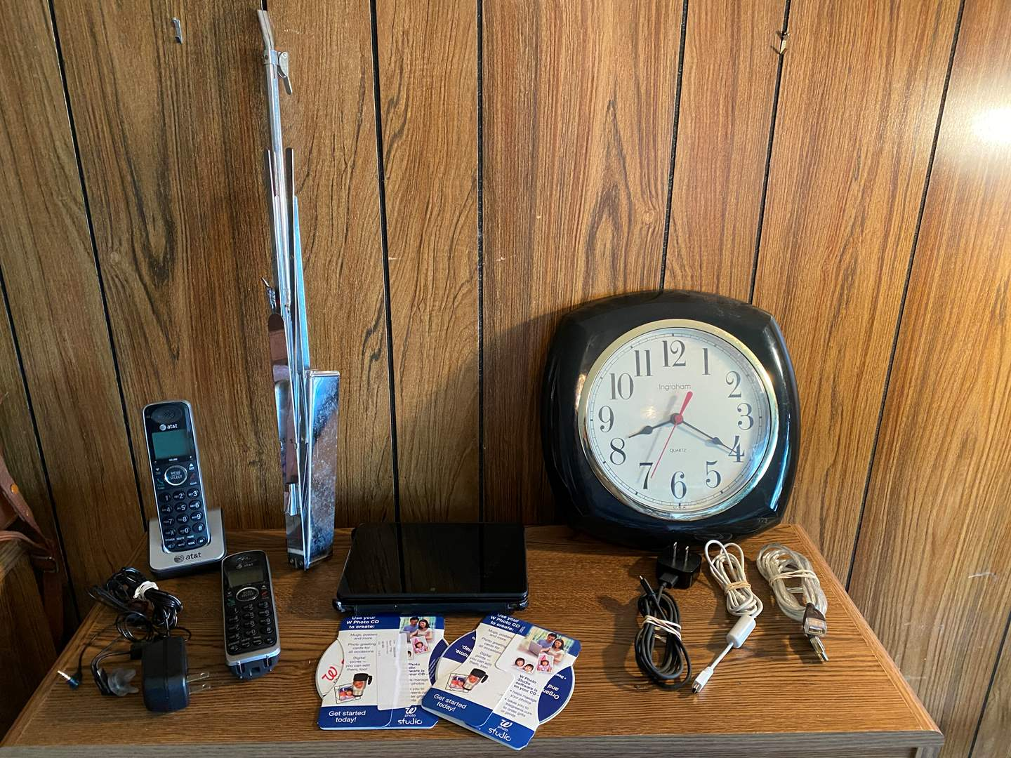 Lot # 213 - Amazon Kindle Fire Model #C9R6QM, AT&T Cordless Phones, Music Stand, Clock & Photo Software (main image)