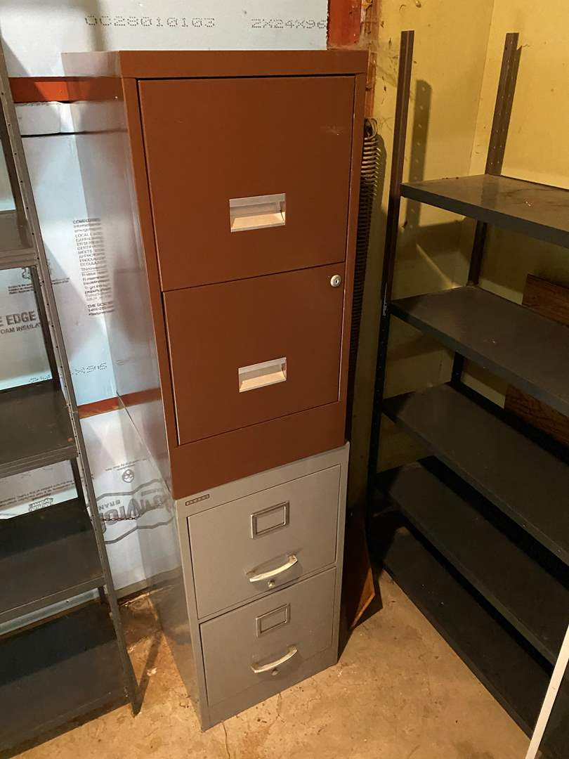 Lot # 235 - Two Metal File Cabinets  (main image)