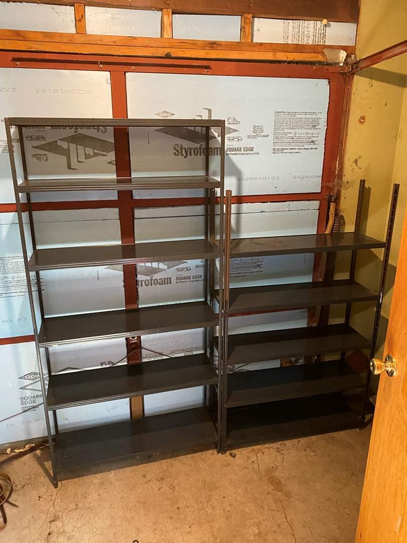 Lot # 236 - Two Light Weight Metal Shelving Units (main image)