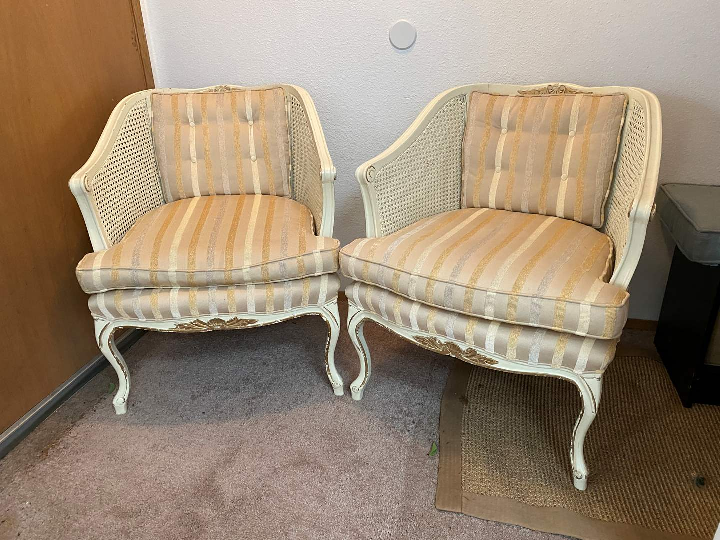 Lot # 8 - Two Vintage French Provincial Style Arm Chairs (main image)