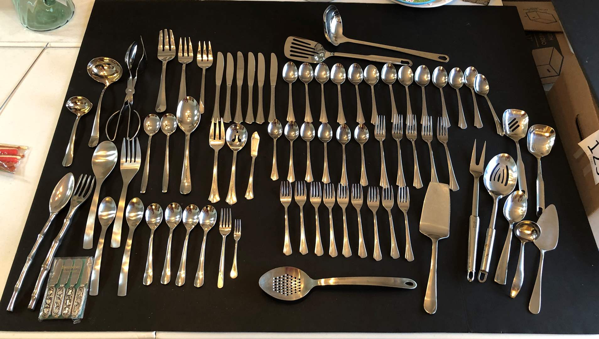 Lot # 137 - Selection of Misc. Flatware, Serving Spoons, Ladles & More..  (main image)