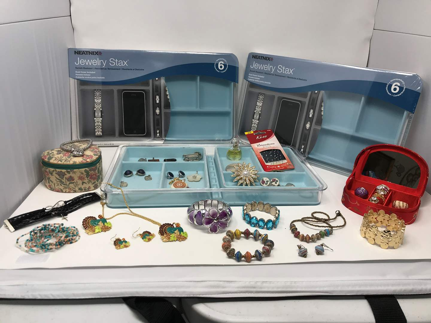 Lot # 77 - Selection of Costume Jewelry: Rings, Bracelets, Pendants, New Jewelry & More..  (main image)