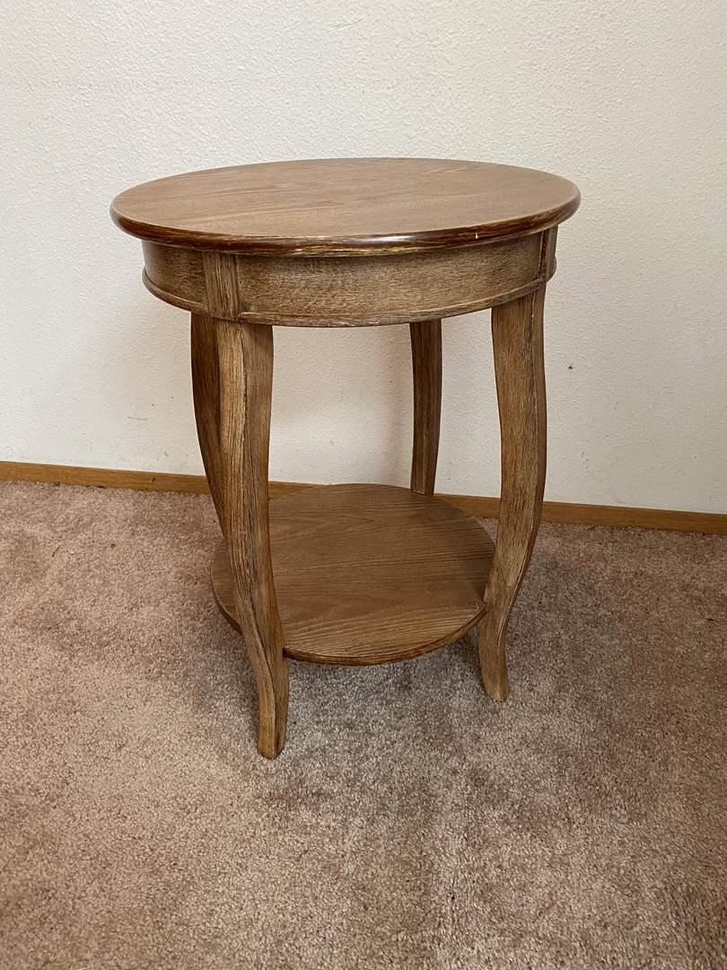 "Lot # 15 - ""Powell"" Wood Side Table  (main image)"