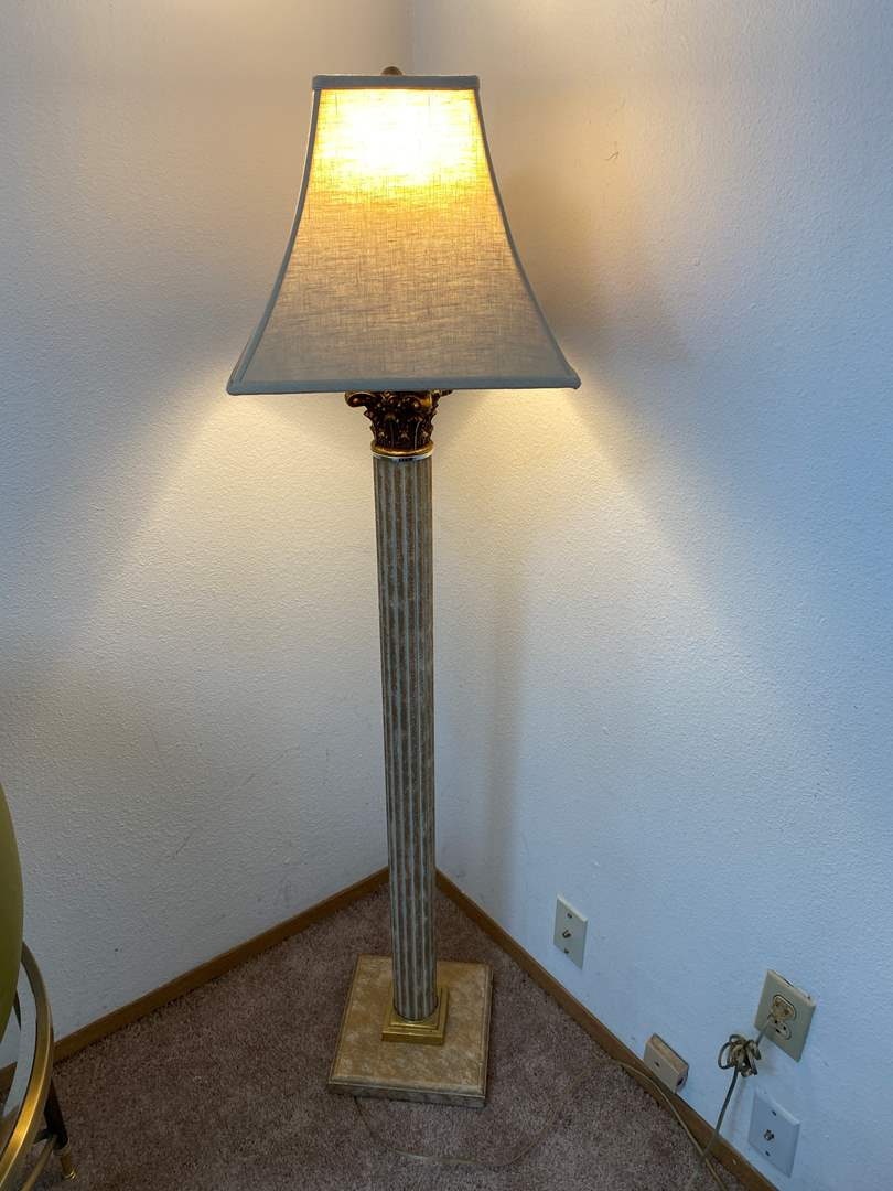 "Lot # 31 - Decorative Floor Lamp - Works - 57"" Tall  (main image)"