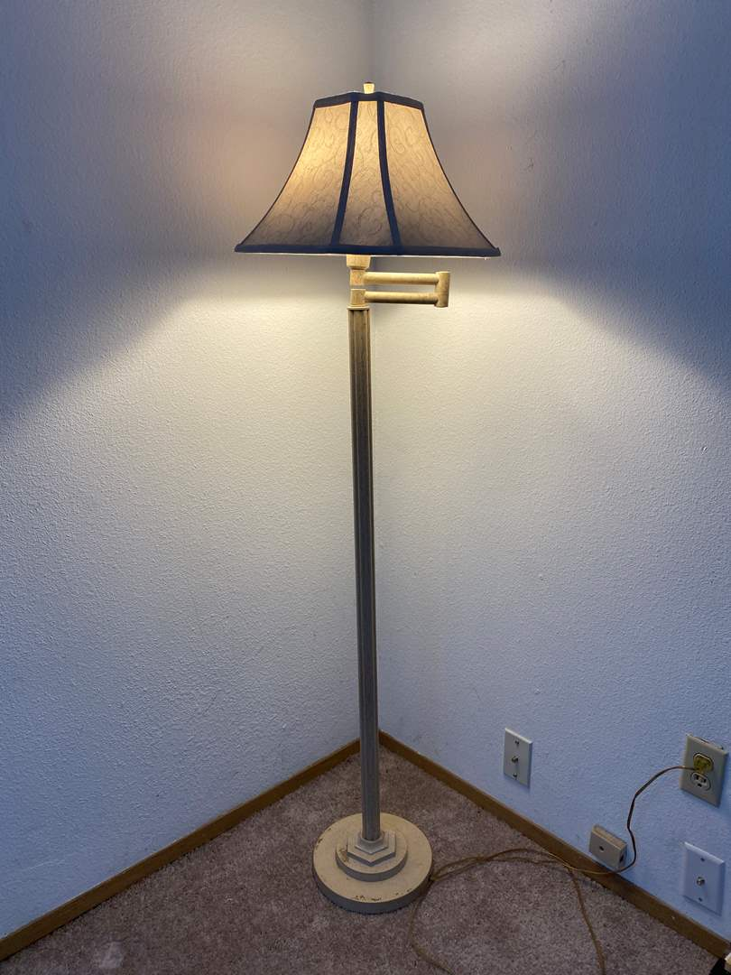 """Lot # 33 - Swing Out Style Floor Lamp - 58"""" Tall  (main image)"""