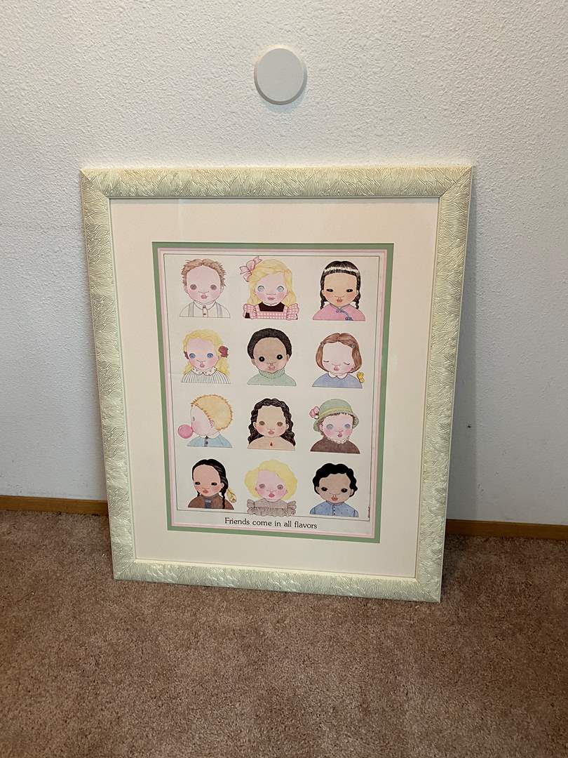 """Lot # 41 - Large """"Friends Come In All Colors"""" Wall Art by Michel  (main image)"""