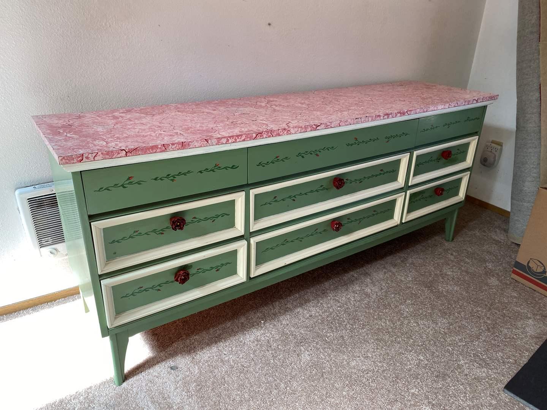 "Lot # 1 - Vintage ""Dixie"" Nine Drawer Dresser w/Dovetail Drawers (main image)"