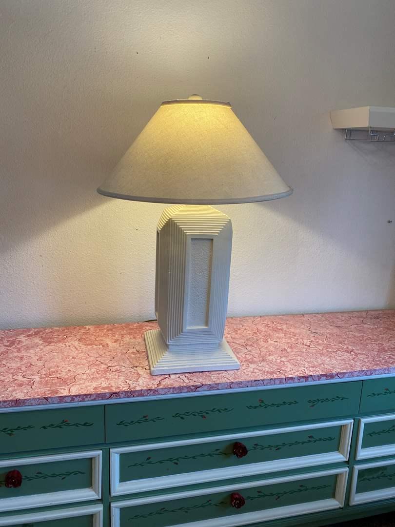 "Lot # 187 - Decorative Ceramic Lamp - 31"" Tall  (main image)"