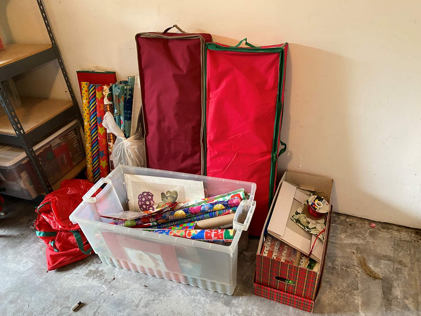 Lot # 198 - Christmas Paper, Boxes, Bags & More..  (main image)