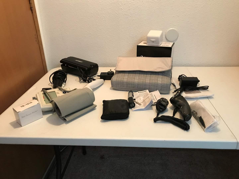 Lot # 222 - Like New Shiatsu Back/Neck Heating Massager, Remington Shaver, BP Kit, Steam Off Gel Remover System & More..   (main image)