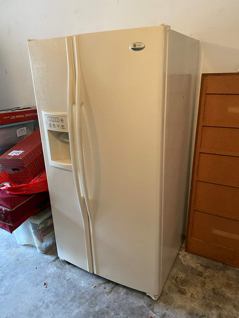 Lot # 243 - GE Profile Arctica Side by Side Refrigerator/Freezer - Works (main image)