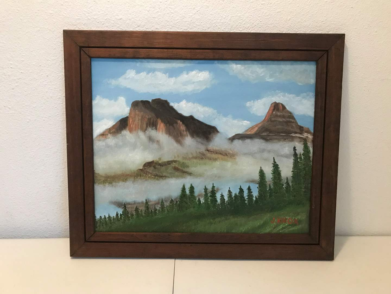 "Lot # 229 - Nice wall Art Signed by J.Knox ""Glacier Park""  (main image)"