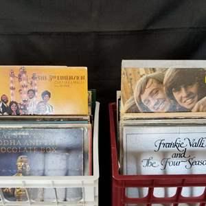 Lot # 18 -  Vintage Vinyl Records in Two Milk Crates