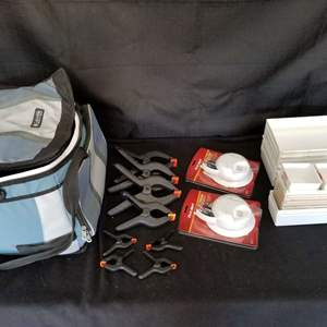 Lot # 19 -  Huge Lot of Plastic Clamps (w/ carry case and more)
