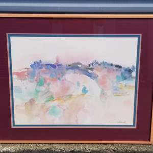 Lot # 21 -   Abstract Watercolor by American artist- Lawrence C. Goldsmith