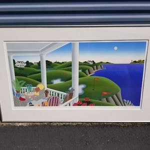 """Lot # 22 - Very Cool and Very Large serigraph titled """"Golf Course"""" by Thomas McKnight,  signed & numbered"""