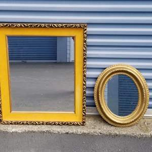 Lot # 23 - Two Vintage Mirrors for Shabby Chic or Boho applications