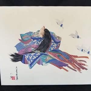 Lot # 29 - Beautiful Signed Hisashi Otsuka Giclee on canvas unframed 28 x 22