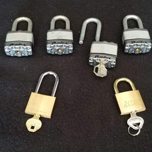 Lot # 32 - 6 Locks  - Master and Ace