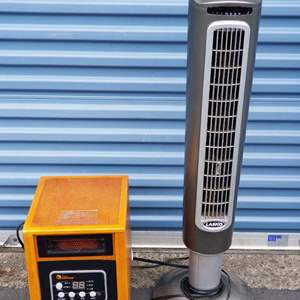 Lot # 36 - DR Infrared 1500W Space Heater and Lasko Tower Fan