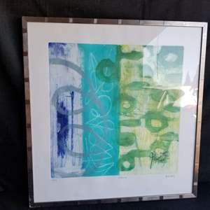 "Lot # 51 - Beautiful Abstract Aquatint  ""Essaouira""- Signed and Numbered Heidi Koenig artist"