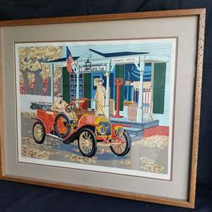 """Lot # 59 - Signed & Numbered Colored Serigraph """"St James General Store"""" by Stan Newland (COA)w/"""