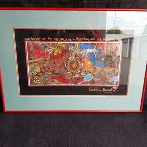 Lot # 64 - Australian Aboriginal Art, plus Monet Garden Poster