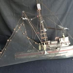 "Lot # 69 - Classic Mid Century Modern  Art, ""Maria"" Fishing Vessel signed C. Jere"