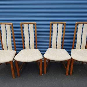 Lot #73 (4) MCM Danish Dining Chairs by Boltinge
