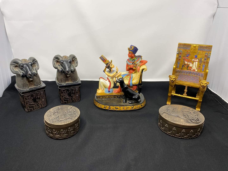 Lot # 24 - Nice Collection of Egyptian Decor (main image)