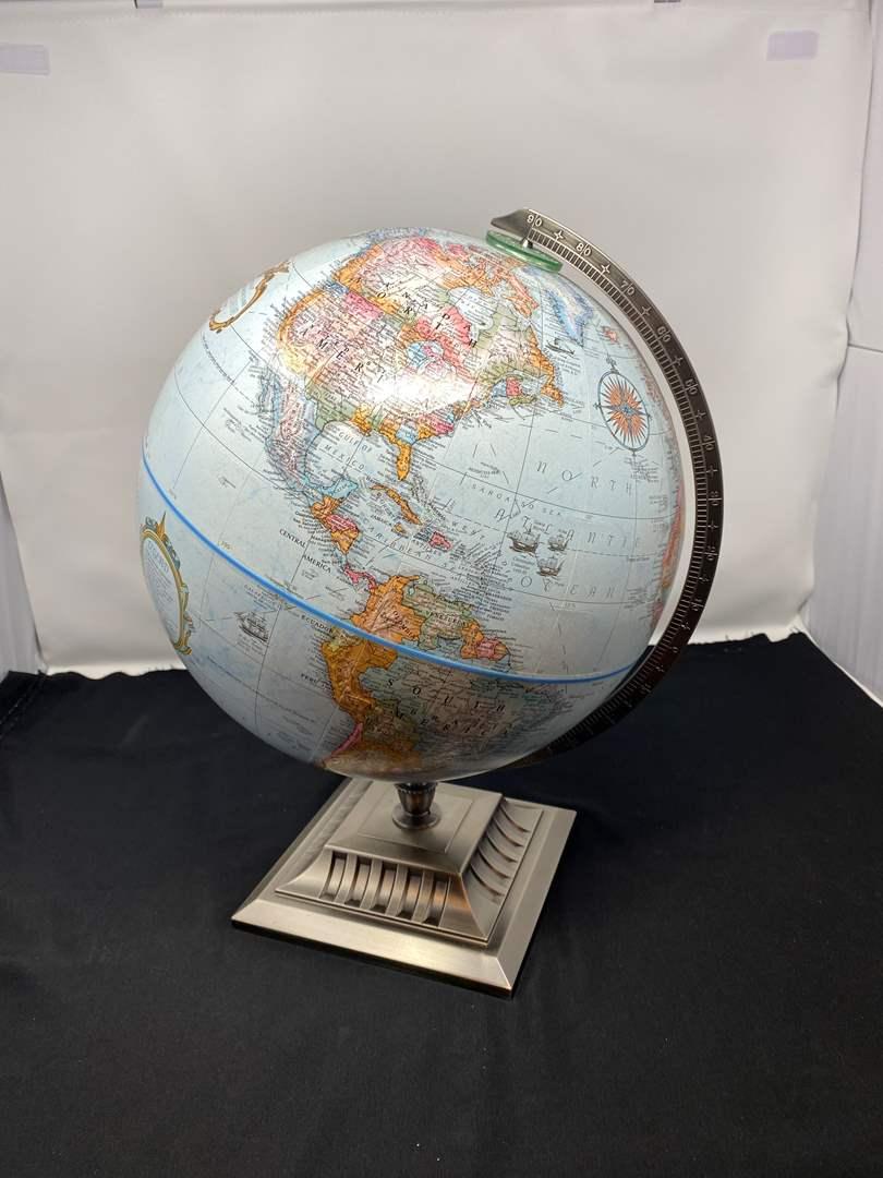 "Lot # 50 - Nice ""Replogle"" Globe w/Metal Base (main image)"