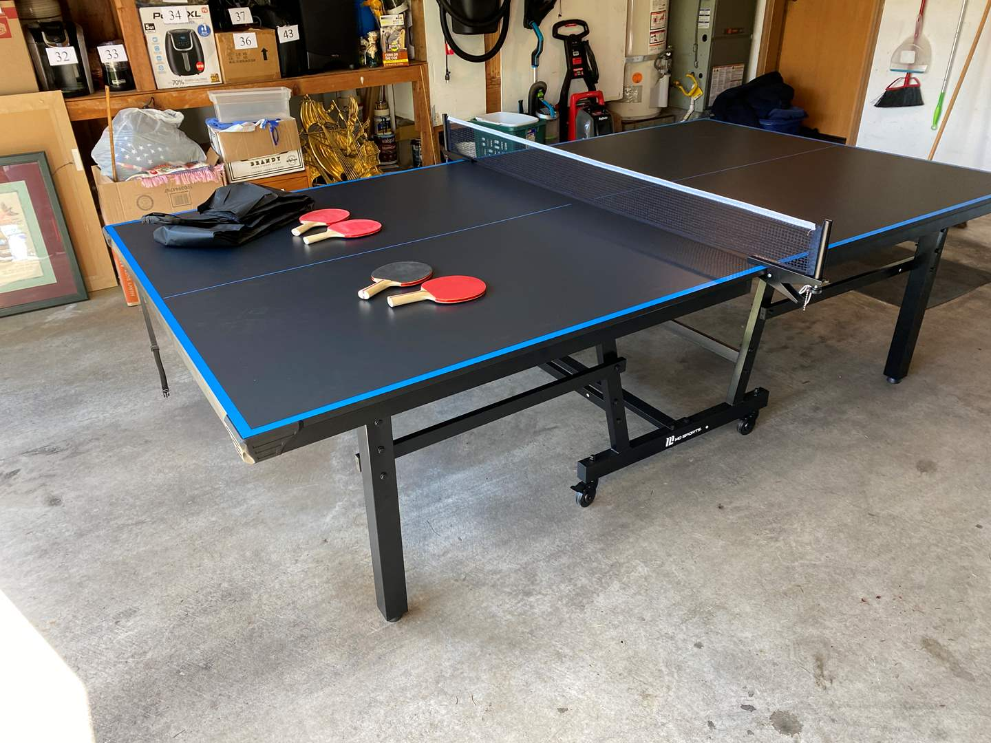 Lot # 60 - Like New Tournament Size Folding MD-Sports Ping Pong Table  (main image)