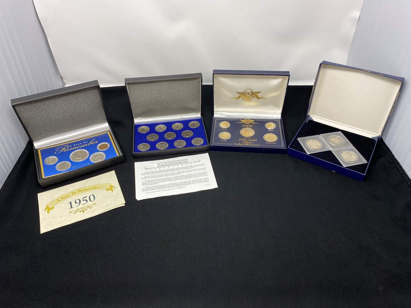 Lot # 77 - Four Sets of American Coins. (main image)