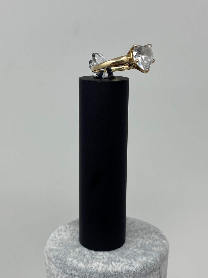 Lot # 106 - 10k Gold Ring w/ CZ - (Stamped & Tested - 2.83 Grams). (main image)