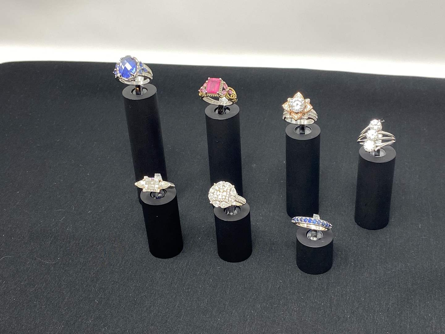 Lot # 111 - Seven Sterling Silver Rings - (Stamped .925 - 31.30 Grams). (main image)