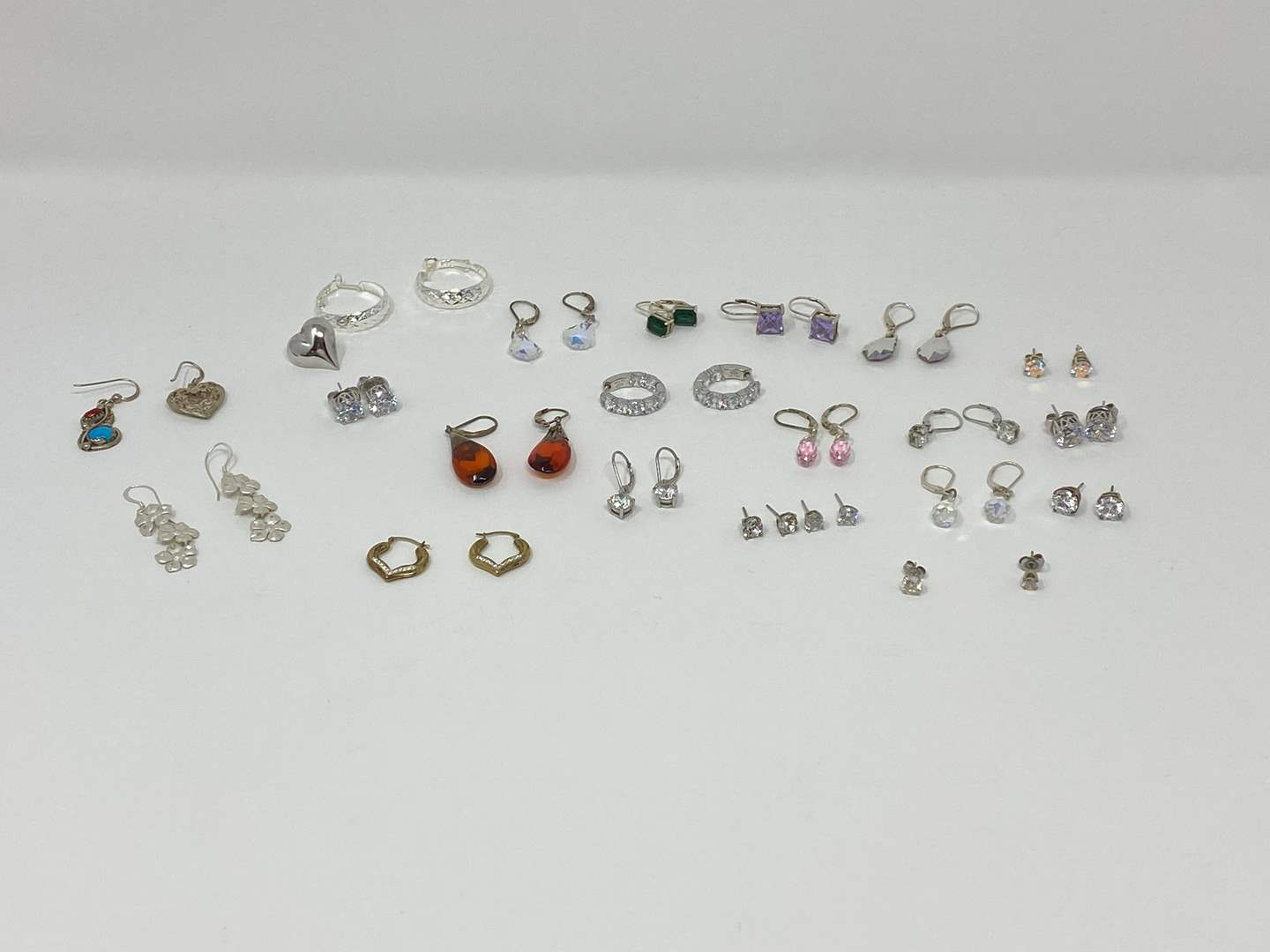 Lot # 125 - Nice Selection of Sterling Silver Earrings - (Stamped .925 - 65.15 Grams). (main image)