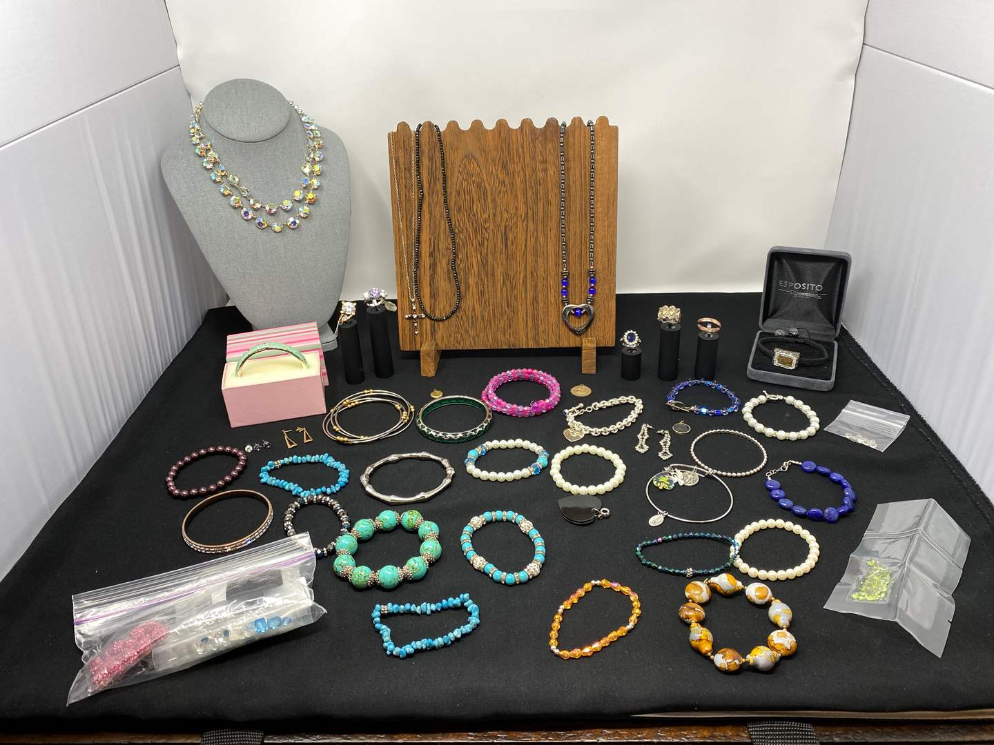 Lot # 127 - Nice Selection of Costume Jewelry - (Some Sterling, Some Gold, Some Gold Filled - See Pictures). (main image)