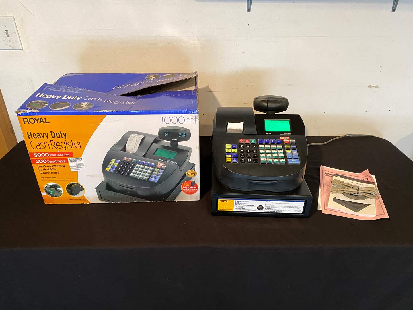Lot # 140 - Lightly Used Royal Heavy Duty 1000ML Cash Register - (Works Great) (main image)