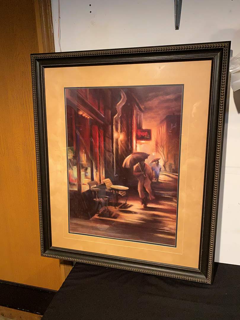 Lot # 145 - Large Rainy Day Framed Print - (Retailed @ $129.99) (main image)