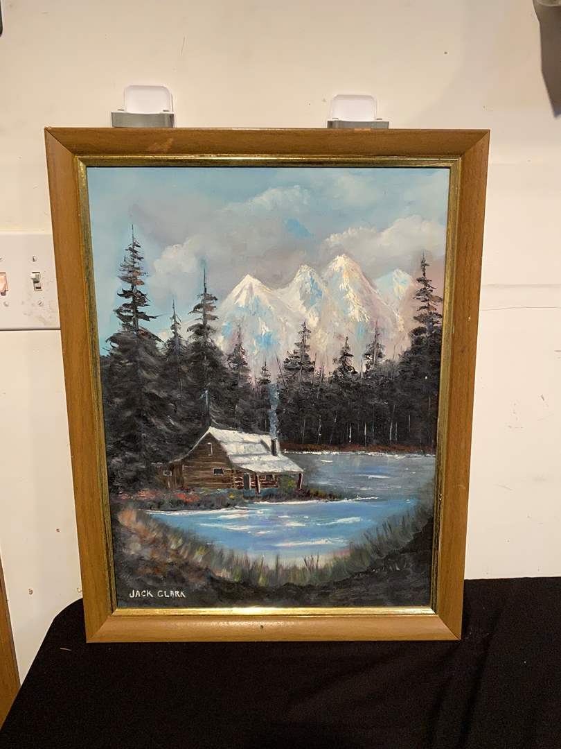 Lot # 146 - Original Oil on Canvass by Jack Clark (main image)