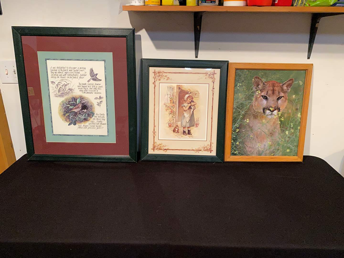 Lot # 147 - Three Large Framed Prints of Various Sizes (main image)