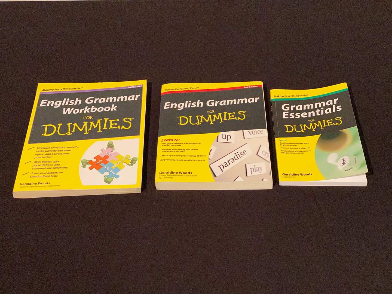 Lot # 150 - Three Never Used Grammar for Dummies Books (main image)